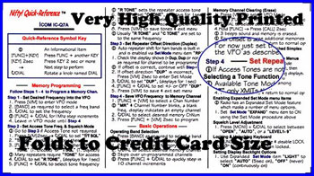 Icom IC-Q7A (Nifty Quick Reference Card)