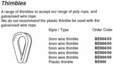 3mm Wire Thimble - BE904/03