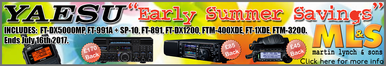 Yaesu Early Summer Savings