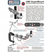 SuperMount UM2 Universal Antenna Mount with Clamps
