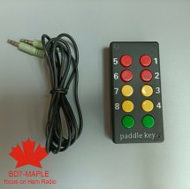 External keypad with button paddle key For IC-705