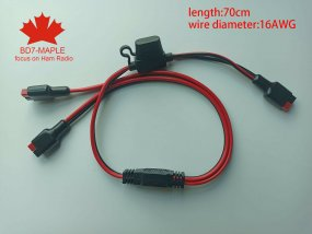 16AWG 1-2 power splitter distribution cable fits Anderson Powerpole connector