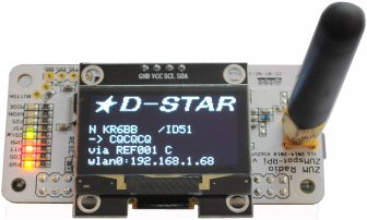 "ZUMSPOT-RPI rev 0.6 with 1.3"" OLED, antenna and standoffs DMR, D-Star, C4FM, P-25, NXDN Hotspot"
